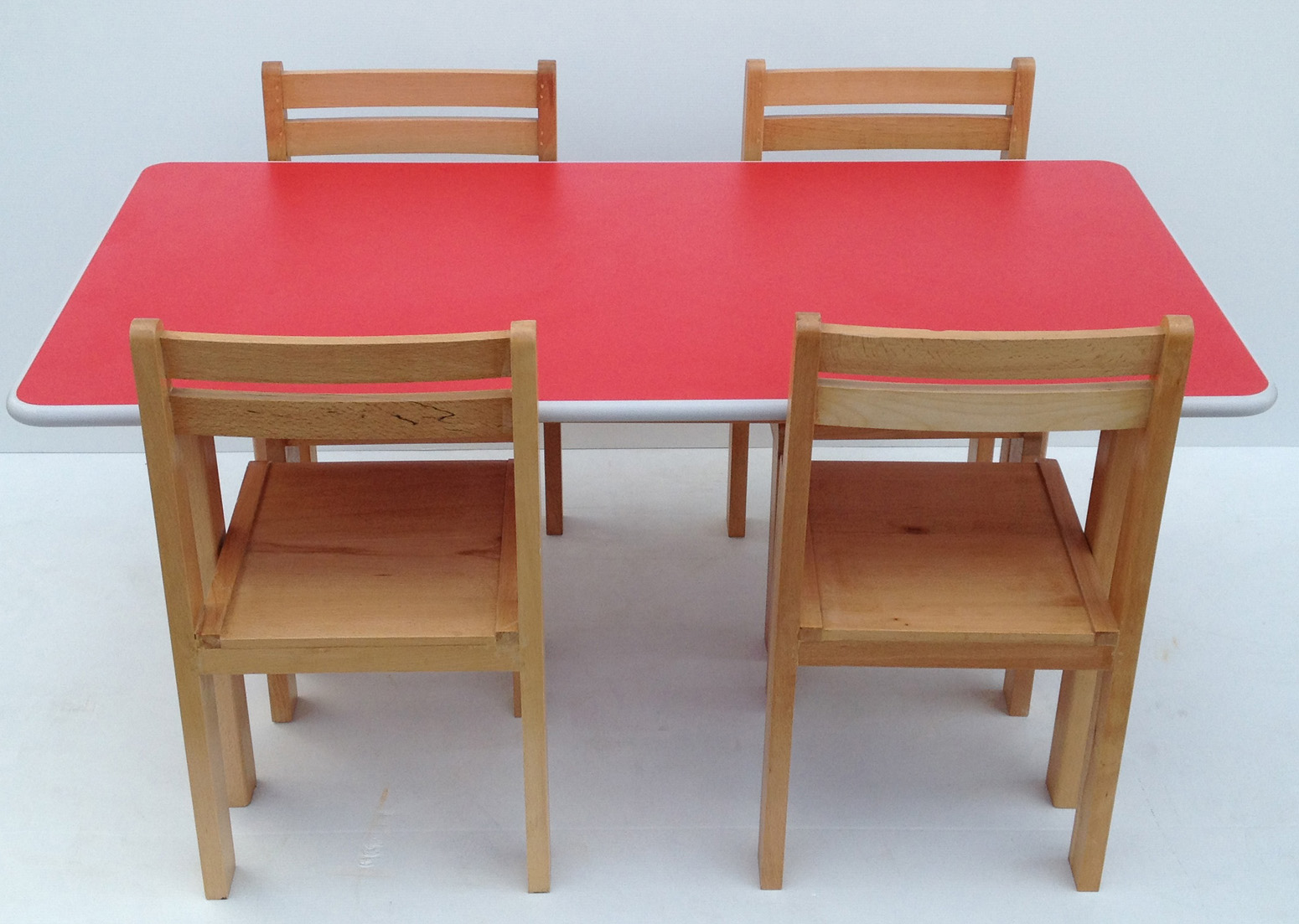 Kids Preschool Beech Wood Table and Chairs Set